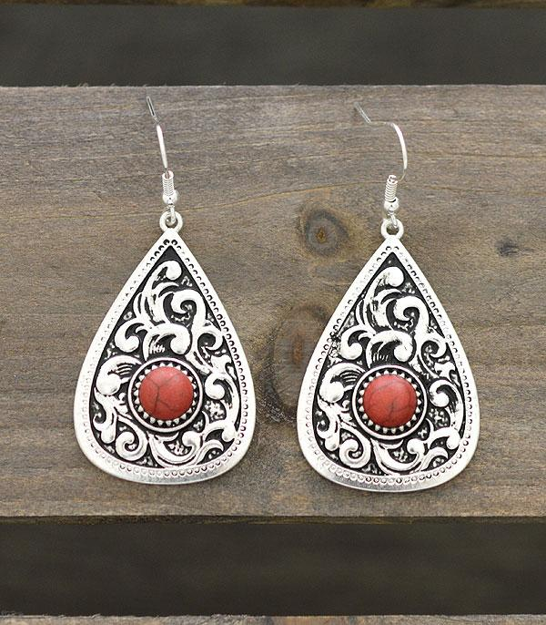 New Arrival :: Wholesale Western Teardrop Casting Earrings