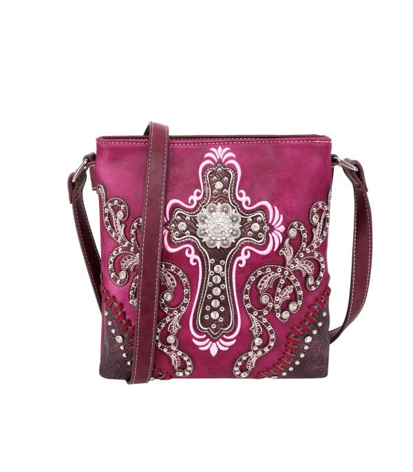 New Arrival :: Wholesale Montana West Cross Embroidered Crossbody