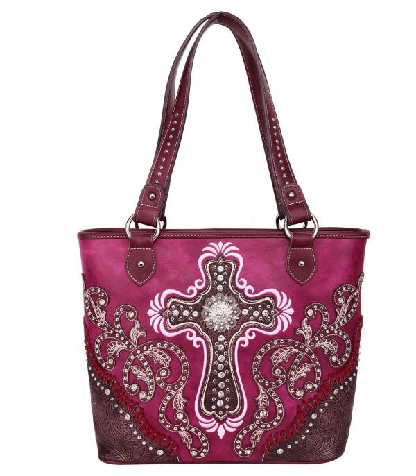 New Arrival :: Wholesale Montana West Cross Embroidered Tote