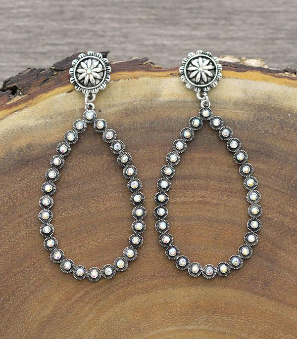 New Arrival :: Wholesale Western Concho Teardrop Earrings