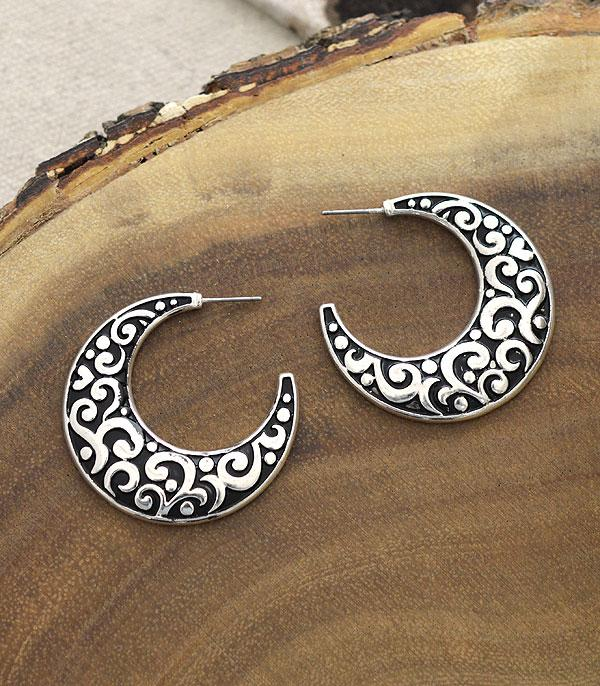 New Arrival :: Wholesale Textured Casting Hoop Earrings