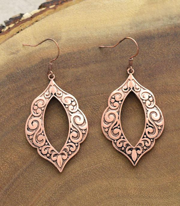 New Arrival :: Wholesale Textured Casting Dangle Earrings