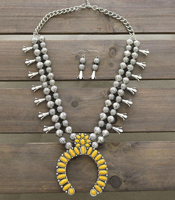 New Arrival :: Wholesale Tipi Western Squash Blossom Necklace Set