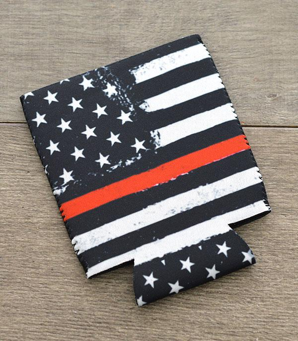 New Arrival :: Wholesale US Flag Red Line Drink Sleeve