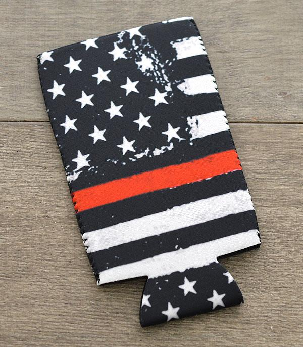New Arrival :: Wholesale US Flag Red Line Bottle Drink Sleeve
