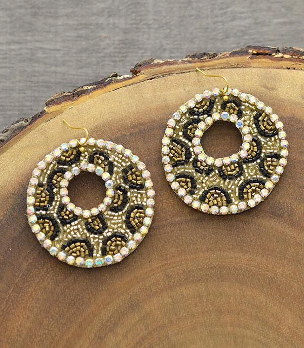 New Arrival :: Wholesale Leopard Seed Bead Earrings