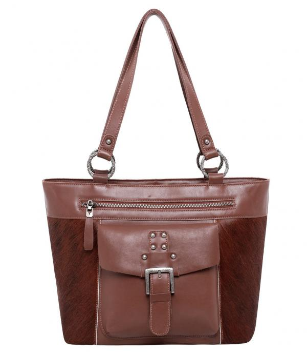 New Arrival :: Wholesale Montana West Real Leather Cowhide Tote
