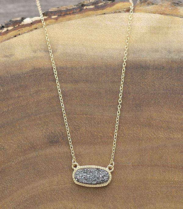 New Arrival :: Wholesale Druzy Oval Necklace Set