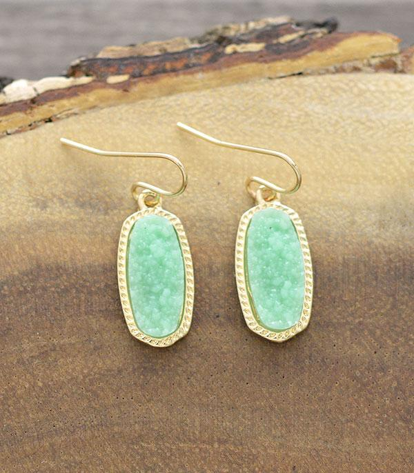New Arrival :: Wholesale Druzy Dangle Earrings