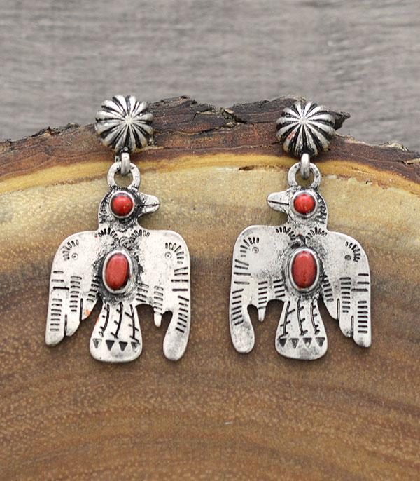 New Arrival :: Wholesale Tipi Western Thunderbird Earrings