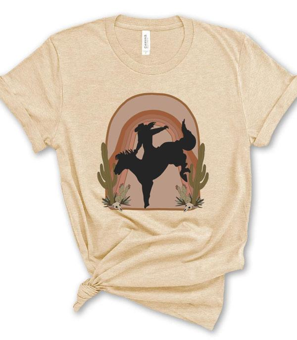New Arrival :: Wholesale Vintage Cowgirl Western Graphic Tshirt