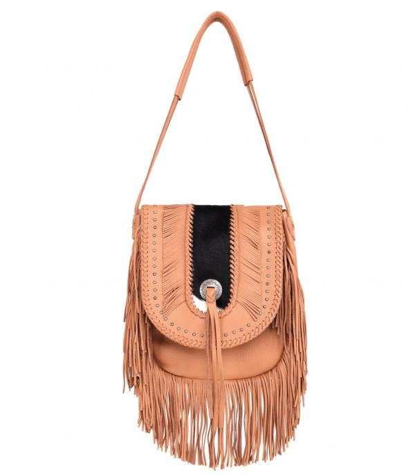 New Arrival :: Wholesale Montana West Genuine Leather Fringe Hobo