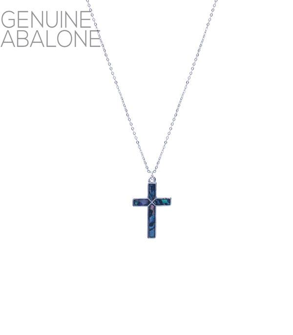 New Arrival :: Wholesale Abalone Cross Pendant Necklace