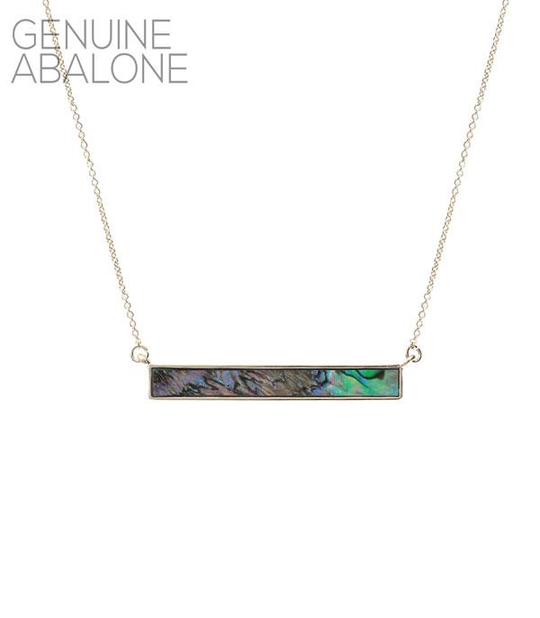 New Arrival :: Wholesale Abalone Bar Necklace