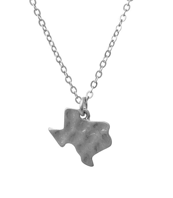 New Arrival :: Wholesale Texas Map Pendant Necklace