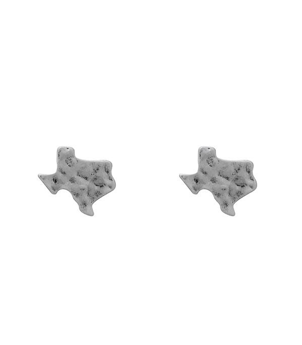 New Arrival :: Wholesale Texas Map Post Earrings