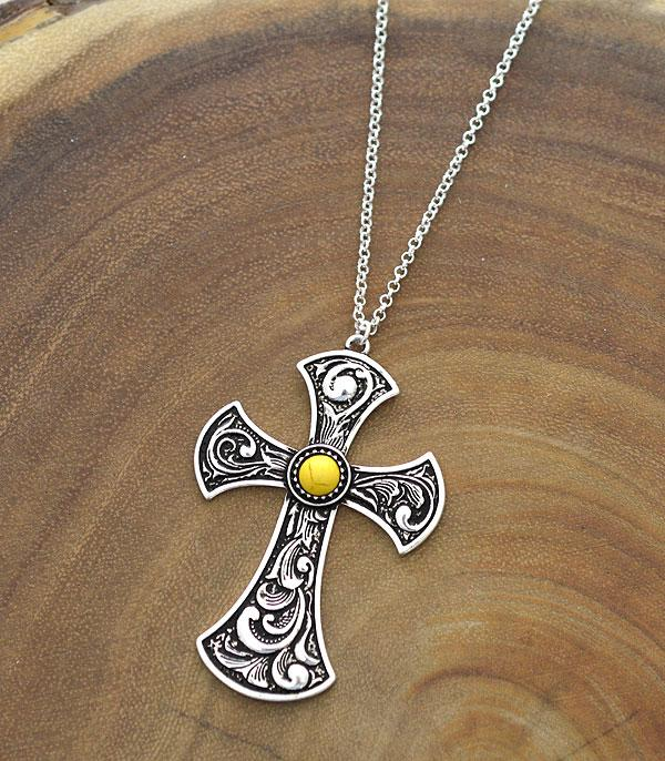 New Arrival :: Wholesale Cross Casting Pendant Necklace