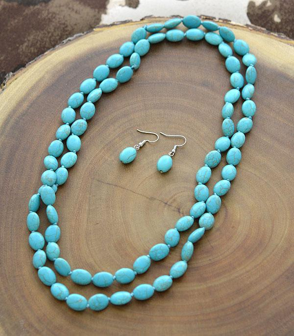 <font color=Turquoise>TURQUOISE JEWELRY</font> :: Wholesale Turquoise Bead Long Necklace
