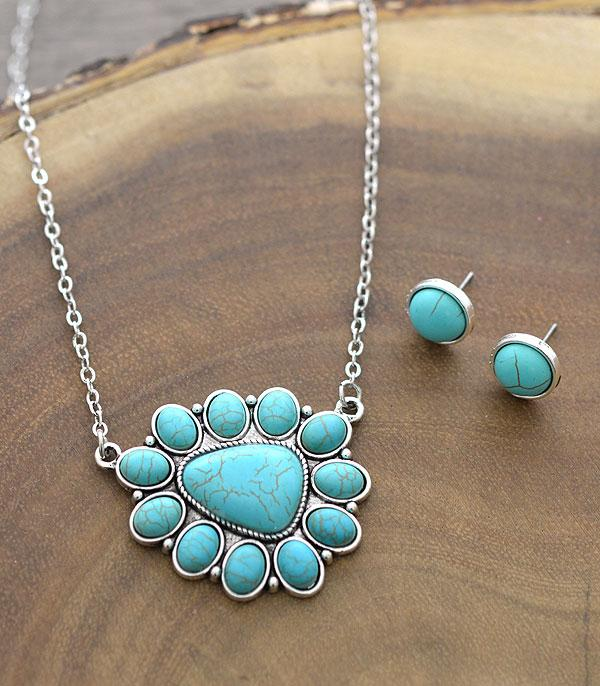 <font color=Turquoise>TURQUOISE JEWELRY</font> :: Wholesale Tipi Western Turquoise Necklace Set