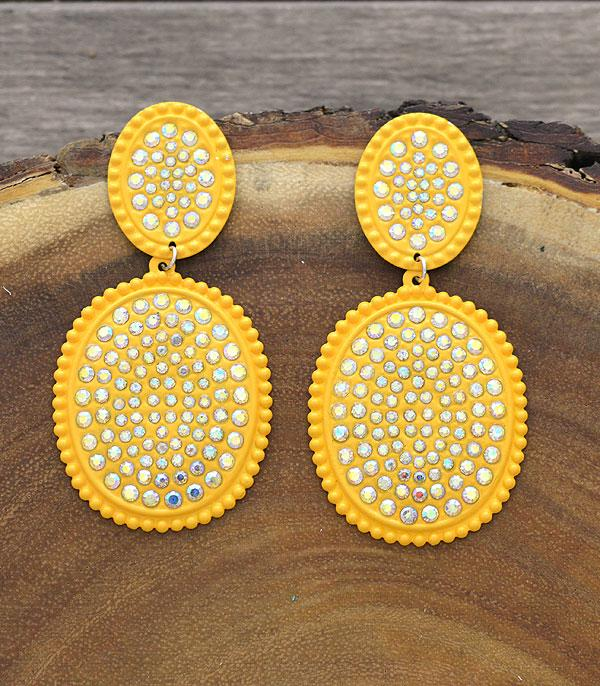New Arrival :: Wholesale Light Metal Bling Stone Post Earrings