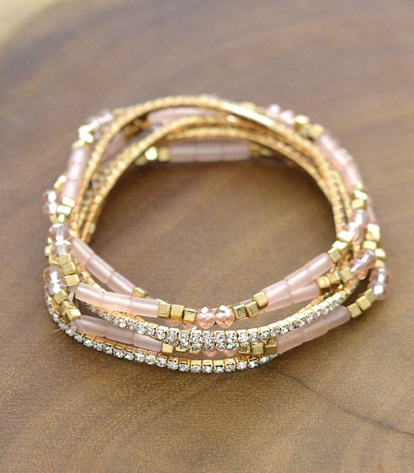 New Arrival :: Wholesale Rhinestone Beads Multi Strand Bracelet