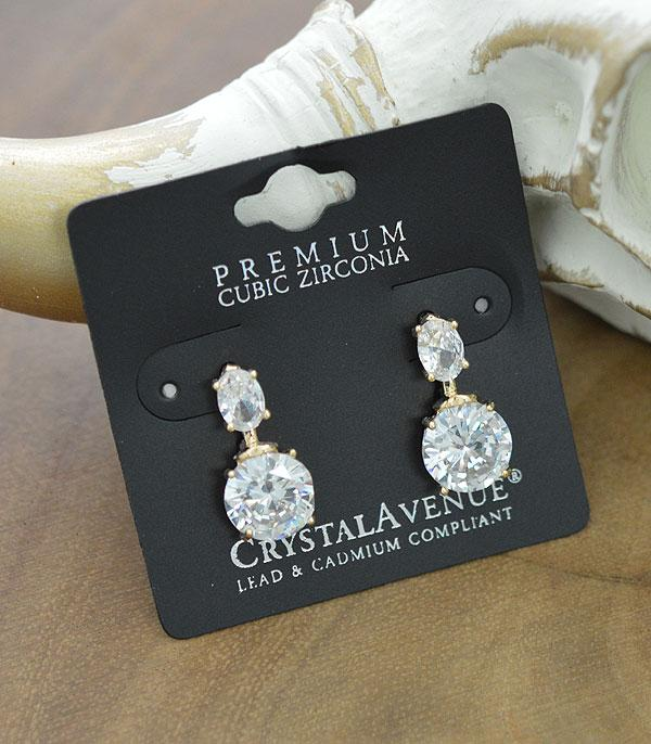 New Arrival :: Wholesale Cubic Zirconia Cross Post Earrings
