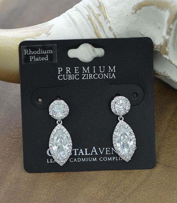 New Arrival :: Wholesale Marquise Cubic Zirconia Dangle Earrings