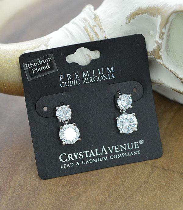 New Arrival :: Wholesale Cubic Zirconia Round Dangle Earrings