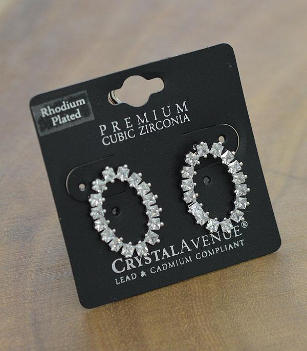 New Arrival :: Wholesale Cubic Zirconia Oval Post Earrings