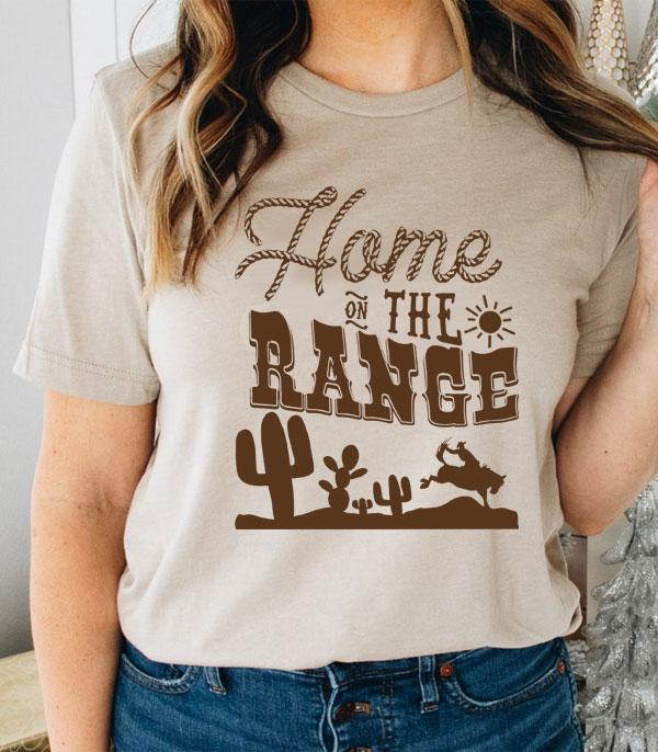 New Arrival :: Wholesale Home On The Range Western Tshirt