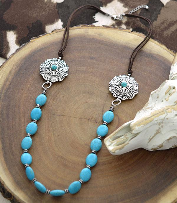 New Arrival :: Wholesale Western Concho Turquoise Necklace