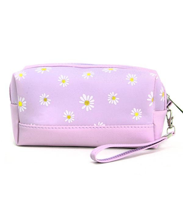 New Arrival :: Wholesale Daisy Print Cosmetic Pouch