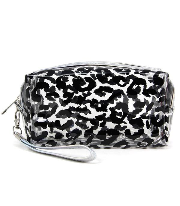 New Arrival :: Wholesale Leopard Print Clear Cosmetic Pouch