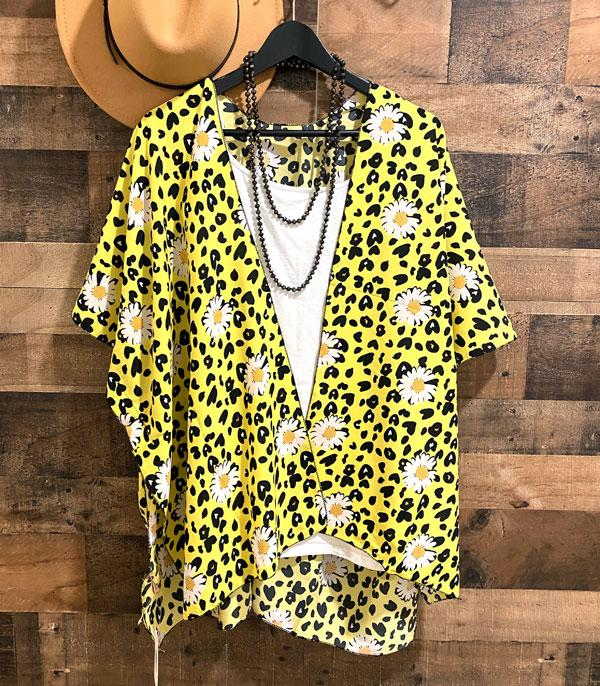 New Arrival :: Wholesale Leopard Flower Print Kimono Cover Up