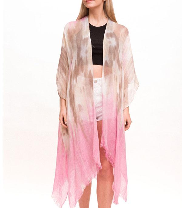 New Arrival :: Wholesale Light Weight Tie Dye Kimono Cover Up