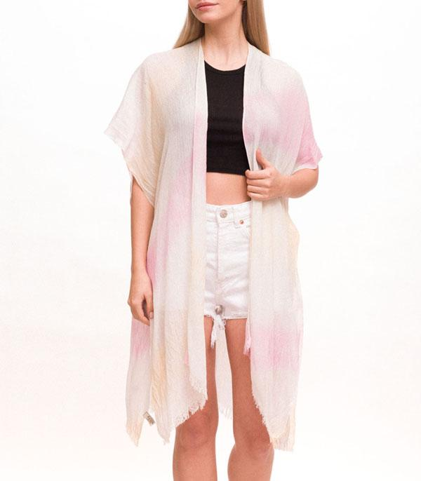 New Arrival :: Wholesale Soft Light Weight Tie Dye Kimono