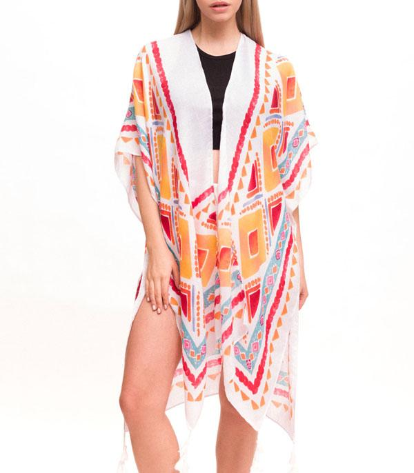 New Arrival :: Wholesale Light Weight Tribal Print Kimono