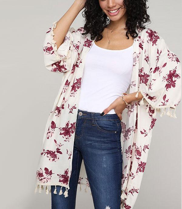 New Arrival :: Wholesale Floral Print Light Kimono