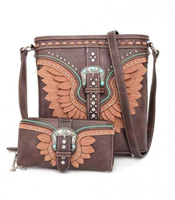 New Arrival :: Wholesale American Bling Buckle Crossbody Set