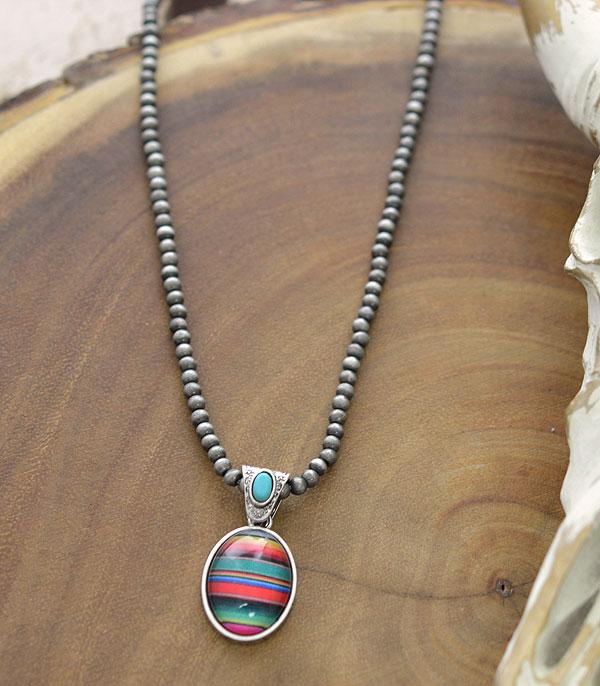 New Arrival :: Wholesale Serape Pendant Navajo Pearl Necklace