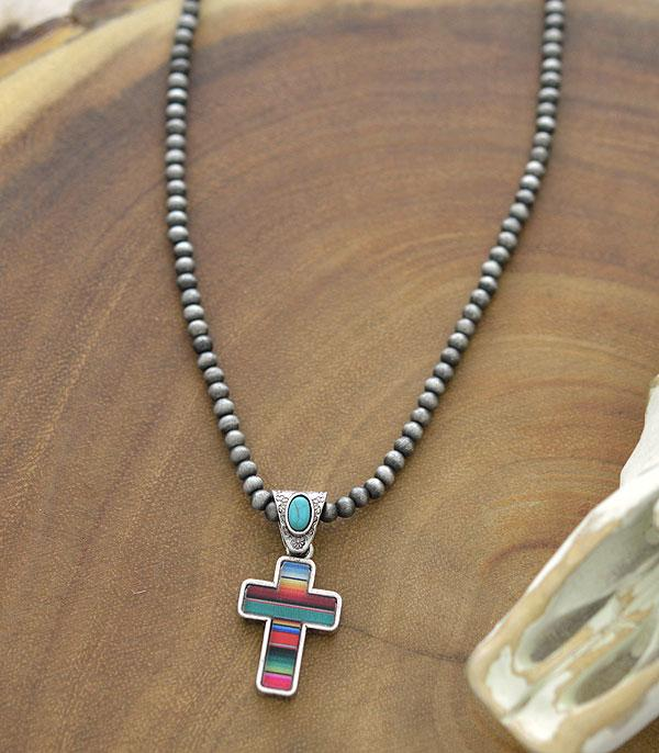 New Arrival :: Wholesale Serape Cross Navajo Pearl Necklace