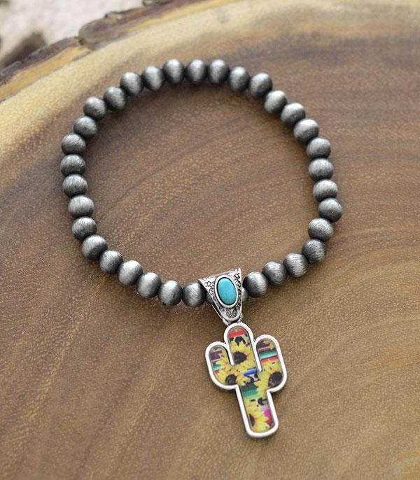 New Arrival :: Wholesale Sunflower Cactus Charm Navajo Bracelet