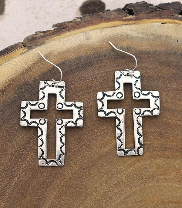 New Arrival :: Wholesale Western Style Cross Earrings