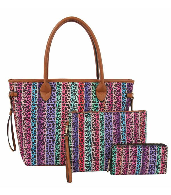 New Arrival :: Wholesale 3 In 1 Western Print Tote Set Bag
