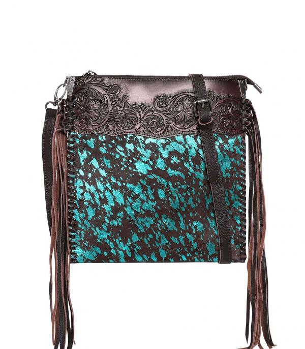 New Arrival :: Wholesale Montana West Leather Cowhide Crossbody