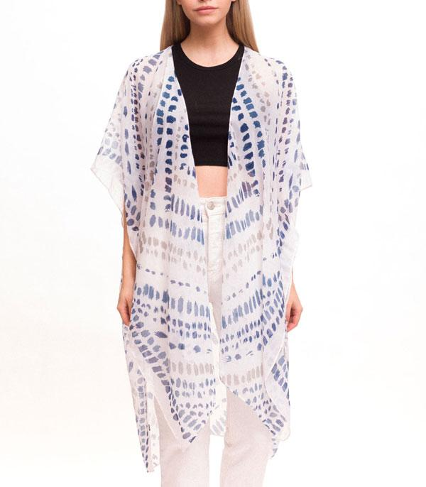 New Arrival :: Wholesale Light Weight Brush Stroke Print Kimono