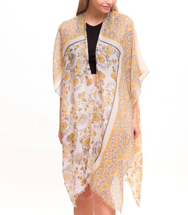 New Arrival :: Wholesale Floral Print Light Womens Kimono