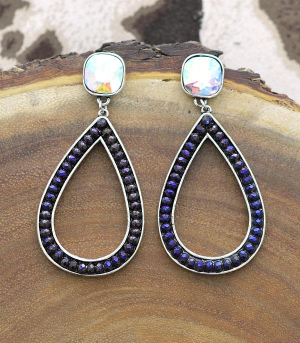 New Arrival :: Wholesale Glass Beaded Teardrop Earrings