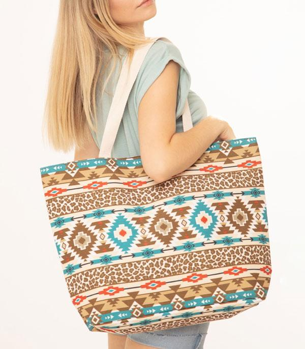 New Arrival :: Wholesale Aztec Print Canvas Tote Bag