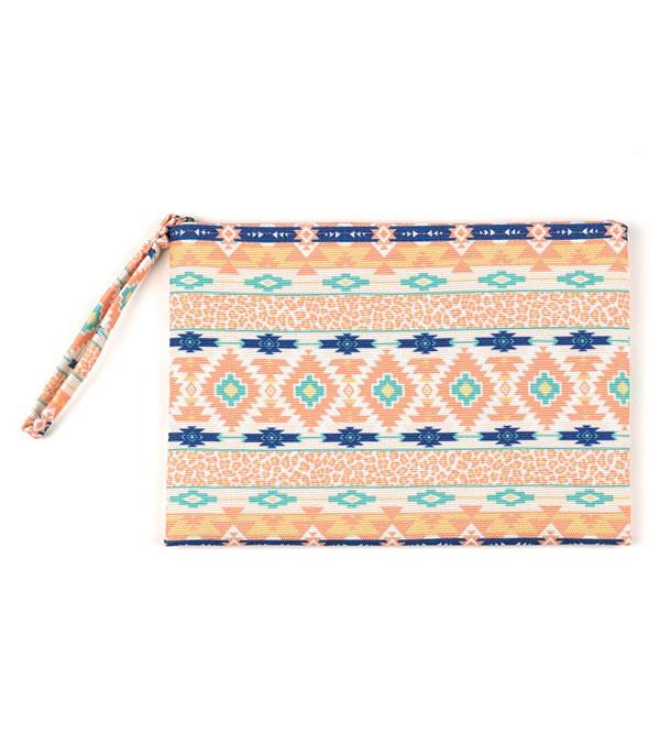 New Arrival :: Wholesale Aztec Print Pouch Bag
